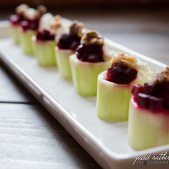 Cucumber Cubs with Beets and Goat Cheese