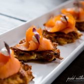 Mini Potato Pancakes with Lox