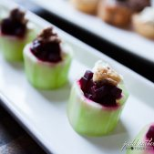 Cucumber Cups with Beets and Goat Cheese