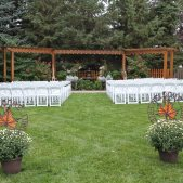 Outdoor ceremony at our Event Center