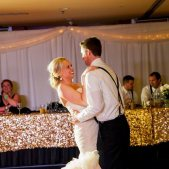 Bride & Groom on the Dance Floor; Photo Credit: Mindy Miller Photography