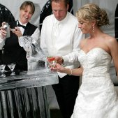 Bride & Groom with Ice Luge