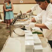 Chef Serving Food Station Style: Photo Credit: Brandon Werth Photography