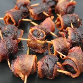 Applewood bacon wrapped figs