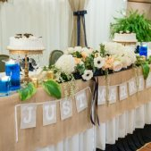 Wedding Head Table Close Up