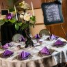 Table In Purple & Grey