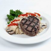 Filet Mignon With Mushroom Risotto