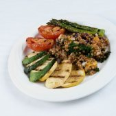 Grilled Vegetables with Wheat Berry Salad