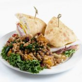 Club Sandwich & Wheat Berry Salad