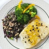 Citrus Glazed Sea Bass