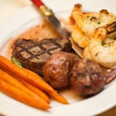 Steak and Shrimp Plated Dinner