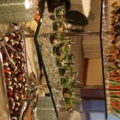 Three tiered appetizer display
