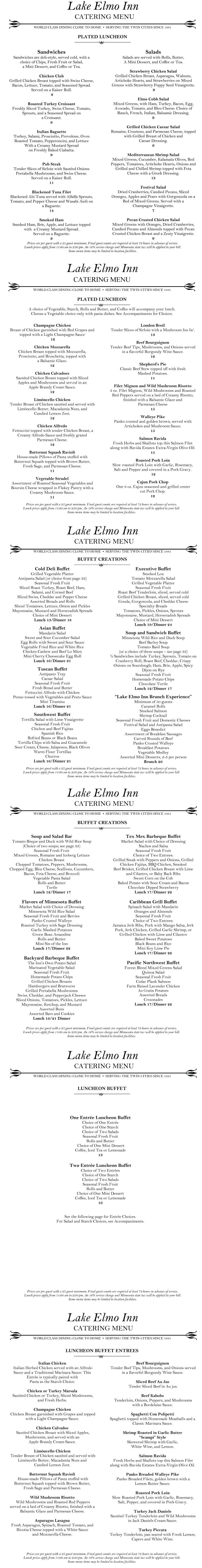 lake elmo inn catering