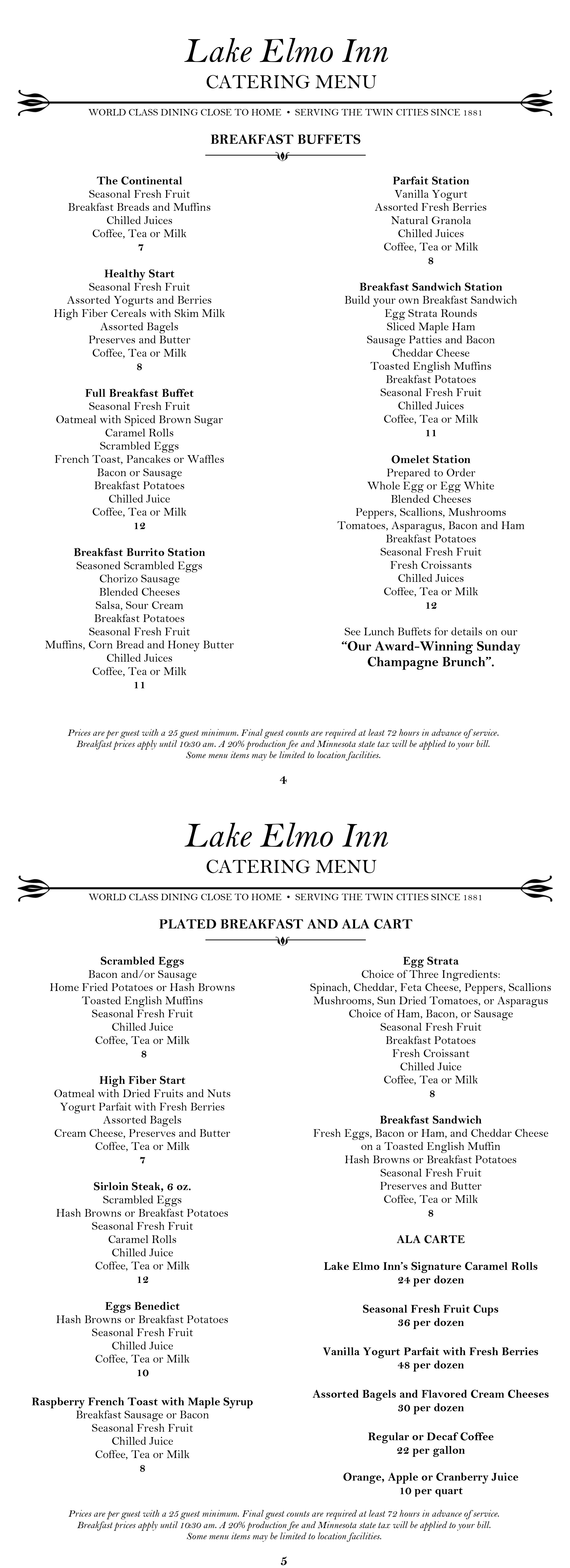 Fantastic Lake Elmo Inn Catering Download Free Architecture Designs Licukmadebymaigaardcom